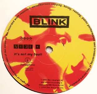 "Blink - It's Not My Fault (12"") (Promo) (VG/VG)"